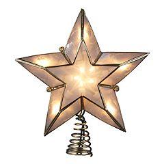 Kurt Adler 8 1/2-in. LED Capiz Shell Star Christmas Tree Topper