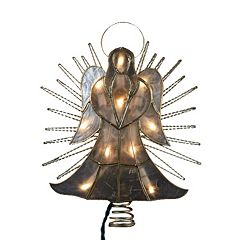 Kurt Adler 10-in. LED Angel with Twisted Wire Christmas Tree Topper