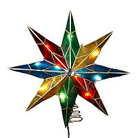 Kurt Adler 16 1/2-in. LED 8-Point Capiz Shell Star Christmas Tree Topper