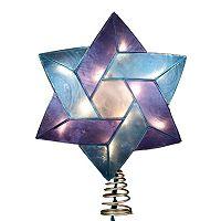 Kurt Adler 8 1/2-in. LED Capiz Shell Star of David Hanukkah Tree Topper