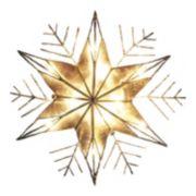 Kurt Adler 10-in. LED Capiz Shell Snowflake Christmas Tree Topper