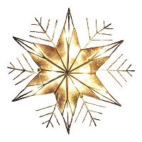 Kurt Adler 10-in. LED Capiz Shell Snowflake Christmas Tree Topper