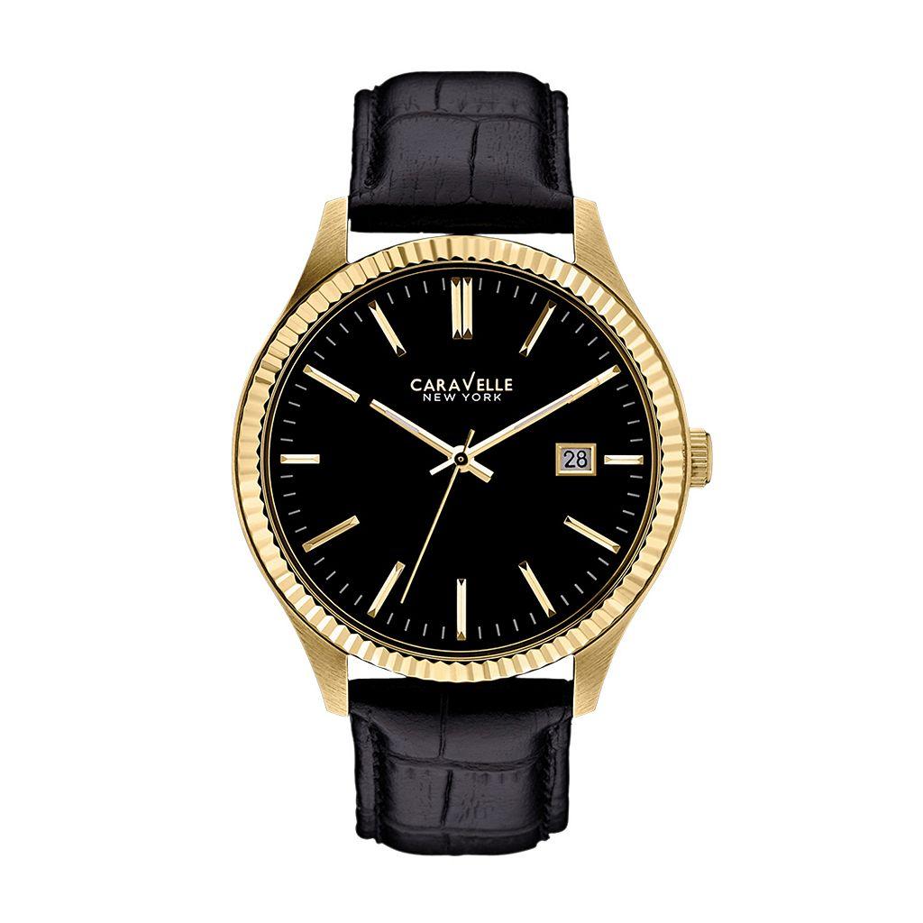 Caravelle New York by Bulova Men's Leather Watch - 44B106K