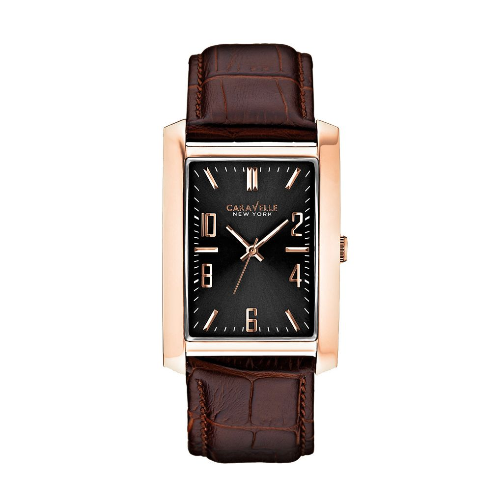 Caravelle New York by Bulova Men's Leather Watch - 44A104