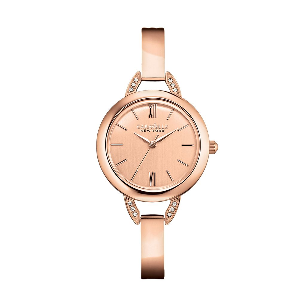 Caravelle New York by Bulova Women's Crystal Bangle Watch