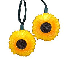 Kurt Adler 10-Light Sunflower Christmas Light Set - Indoor & Outdoor