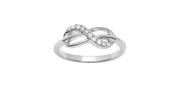 Diamond Rings For Sale Kohls: Sterling Silver 1/10-ct. T.W. Diamond Infinity Ring