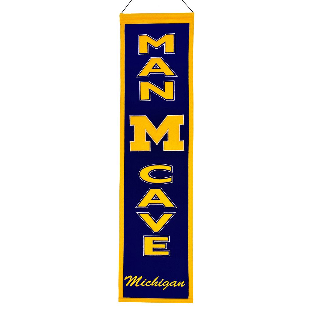 Michigan Wolverines Man Cave Banner