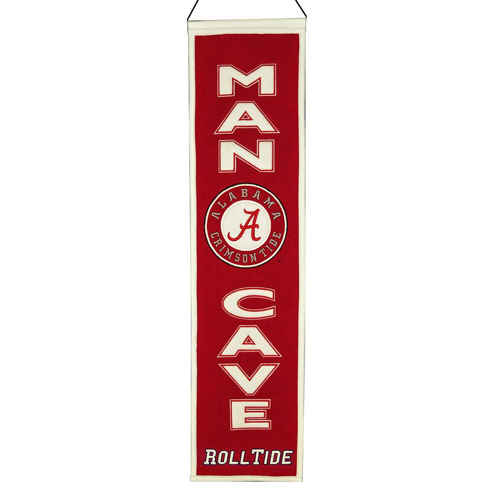 Alabama Crimson Tide Man Cave Banner