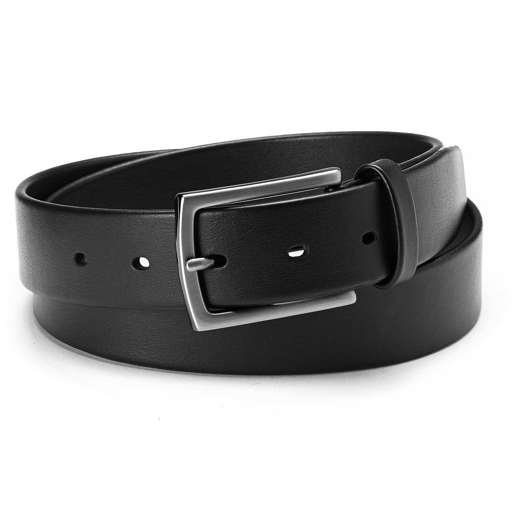 Apt. 9® Soft Tube Leather Belt - Men