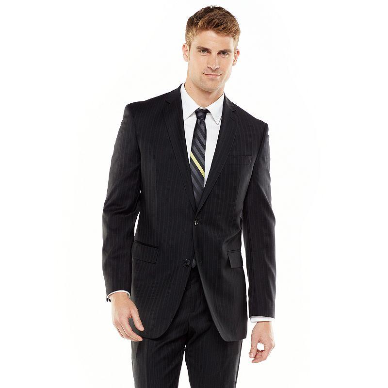 Marc Anthony Modern-Fit Pinstripe Wool-Blend Suit Coat - Men