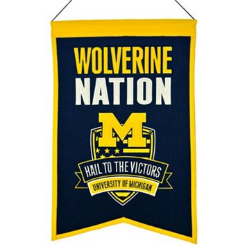 Michigan Wolverines Nations Banner
