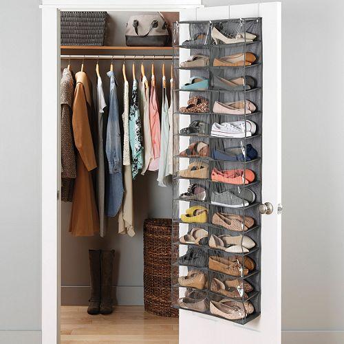 whitmor over the door shoe shelves organizer. Black Bedroom Furniture Sets. Home Design Ideas