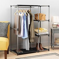 Whitmor Spacemaker Garment Rack & Shelves