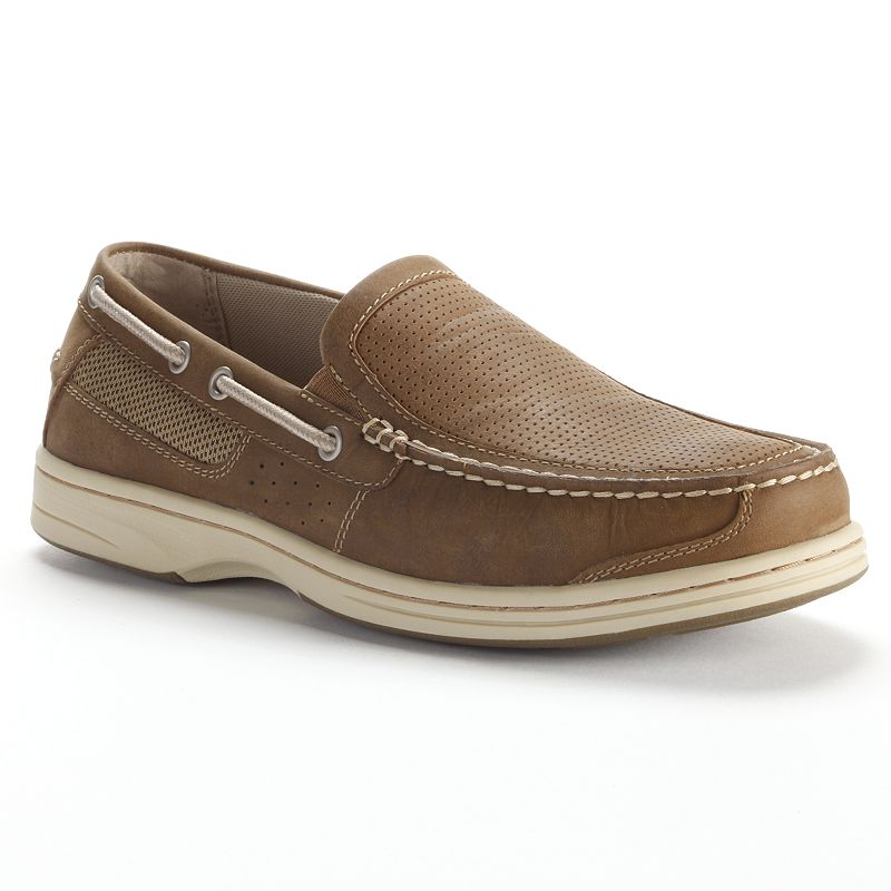 Chaps Brown Slip-On Boat Shoes - Men