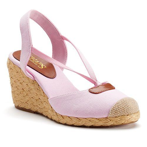 c4368ff7641 Chaps Women's Espadrille Wedge Sandals