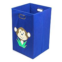 Nuby Monkey Blue Folding Laundry Bin