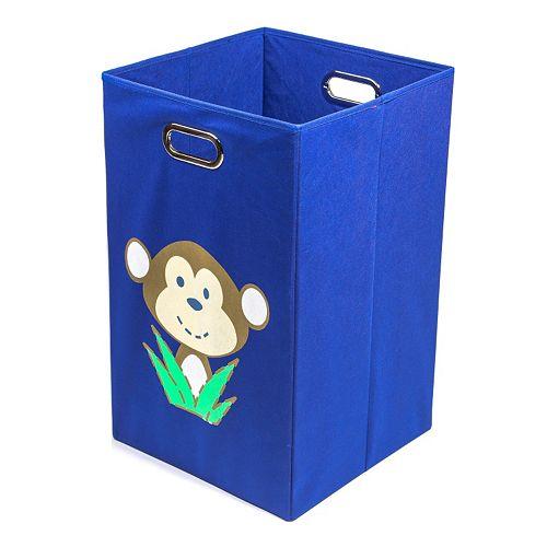 Nuby Monkey Blue Folding Laundry Bin