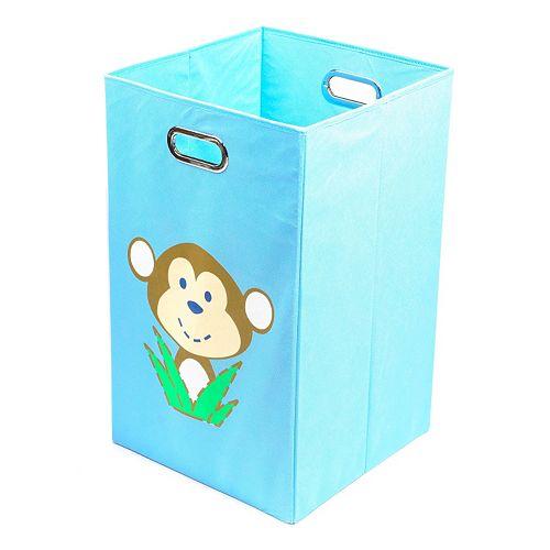 Nuby Monkey Light Blue Folding Laundry Bin