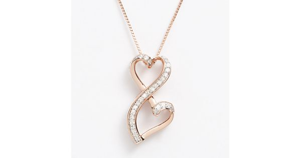 Love is forever 14k rose gold over silver 1 5 ct t w for Kohls fine jewelry coupon