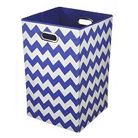 Modern Littles Chevron Folding Laundry Bin