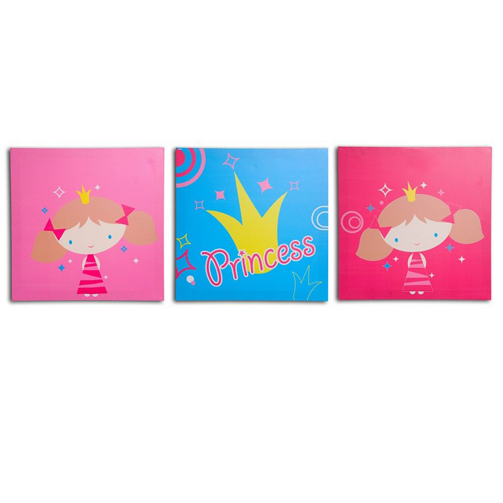 Nuby 3-pk. Princess Wall Art
