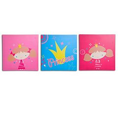 Nuby 3-pk. Princess Wall Art