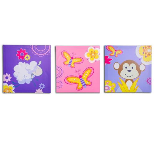 Nuby 3-pk. Butterfly Wall Art