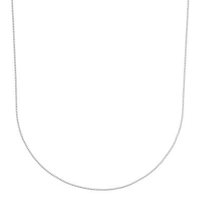 Sterling Silver Box Chain Necklace - 30-in.
