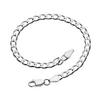7-in. Sterling Silver Curb-Link Bracelet