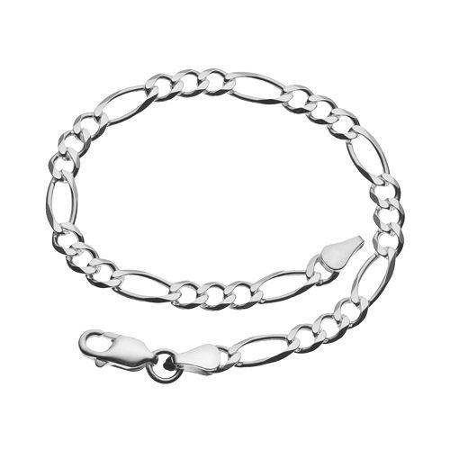 8-in. Sterling Silver Figaro Bracelet