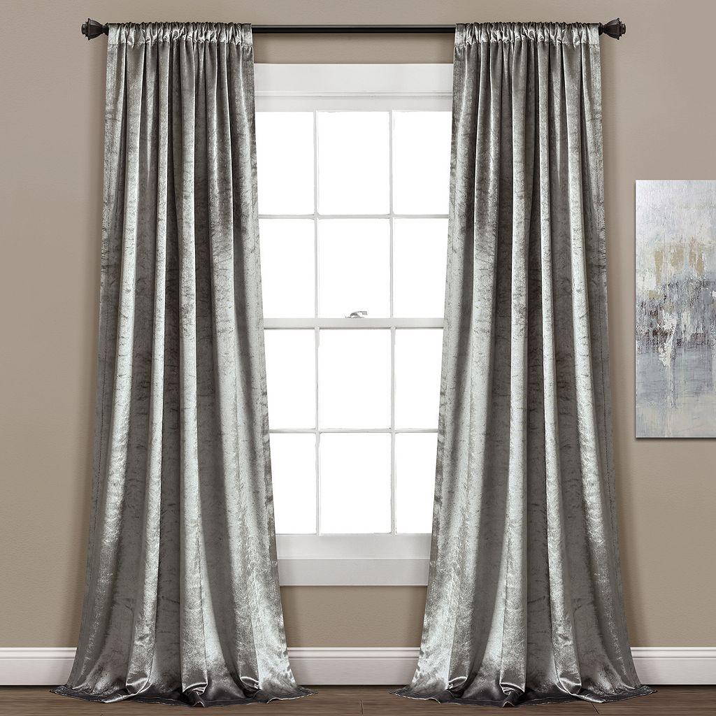 Lush Decor 2-pack Velvet Dream Window Curtains - 40