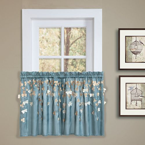 "Lush Decor Flower Drops Tier Curtain Pair - 58"" x 24"""