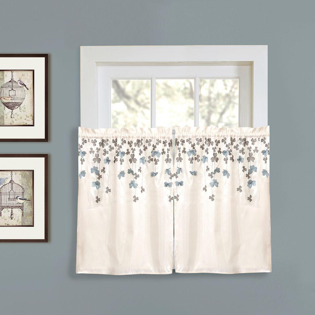 Lush Decor Flower Drops Tier Curtain Pair - 58