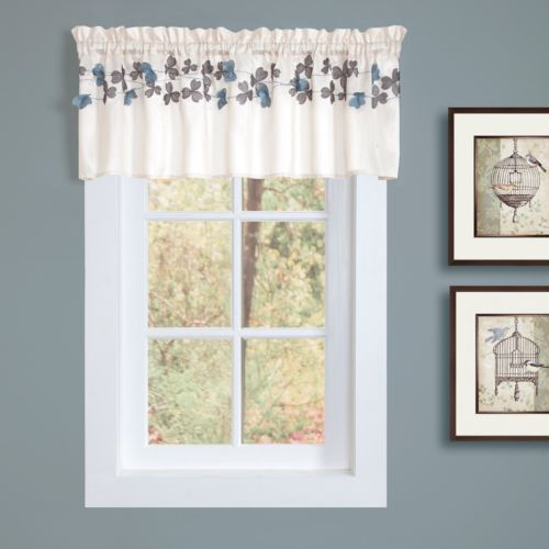 Lush Decor Flower Drops Tier Valance - 58