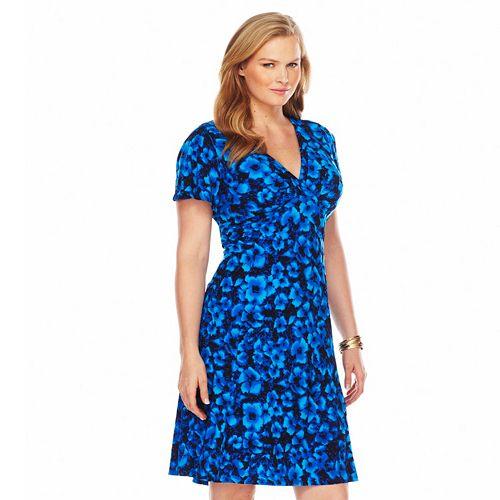 e4c5c6702e3 Plus Size Chaps Floral Empire Dress