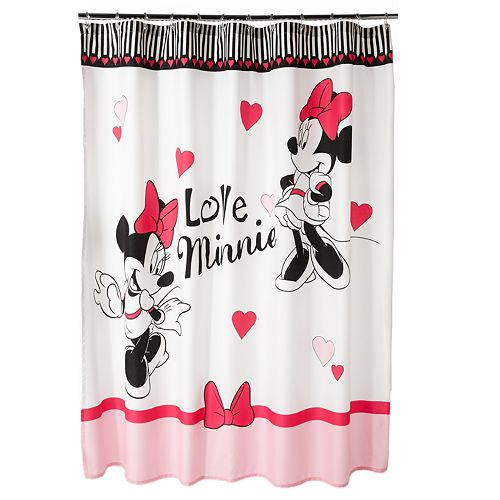 Disney Minnie Mouse Ooh La Fabric Shower Curtain
