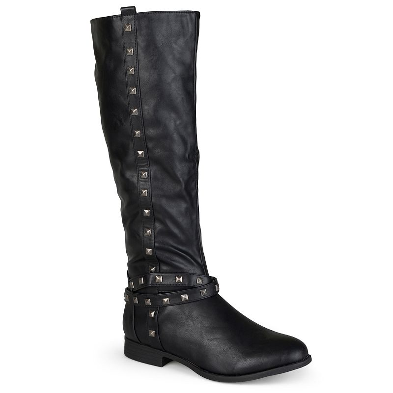 Journee Collection Chillum Studded Tall Boots - Women