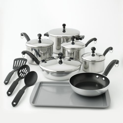 Farberware Classic Series 15-pc. Stainless Steel Cookware Set