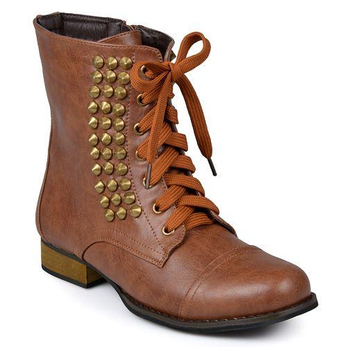 Journee Collection Aloha Studded Combat Boots - Women
