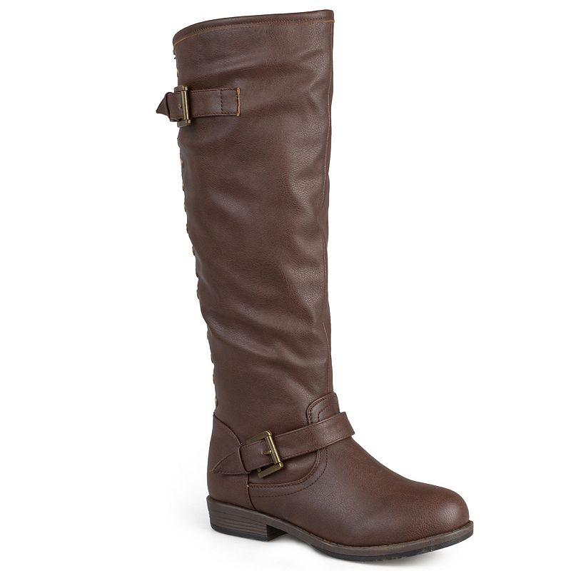 Journee Collection Spokane Studded Tall Boots - Women