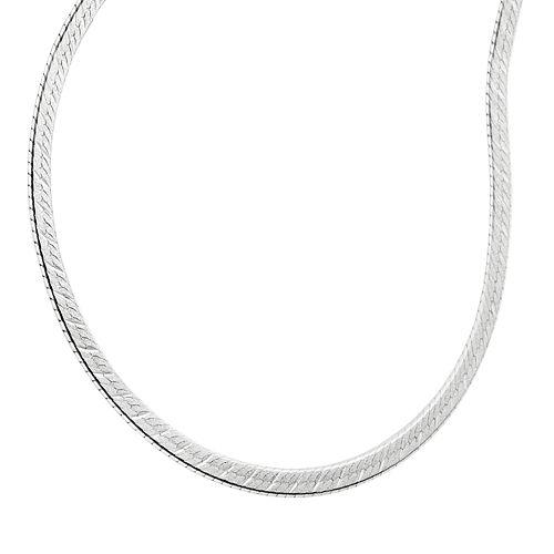 PRIMROSE Sterling Silver Reversible Herringbone Chain Necklace - 18-in.
