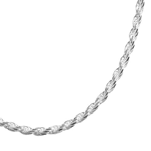 PRIMROSE Sterling Silver 18-in. Diamond-Cut Rope Chain Necklace