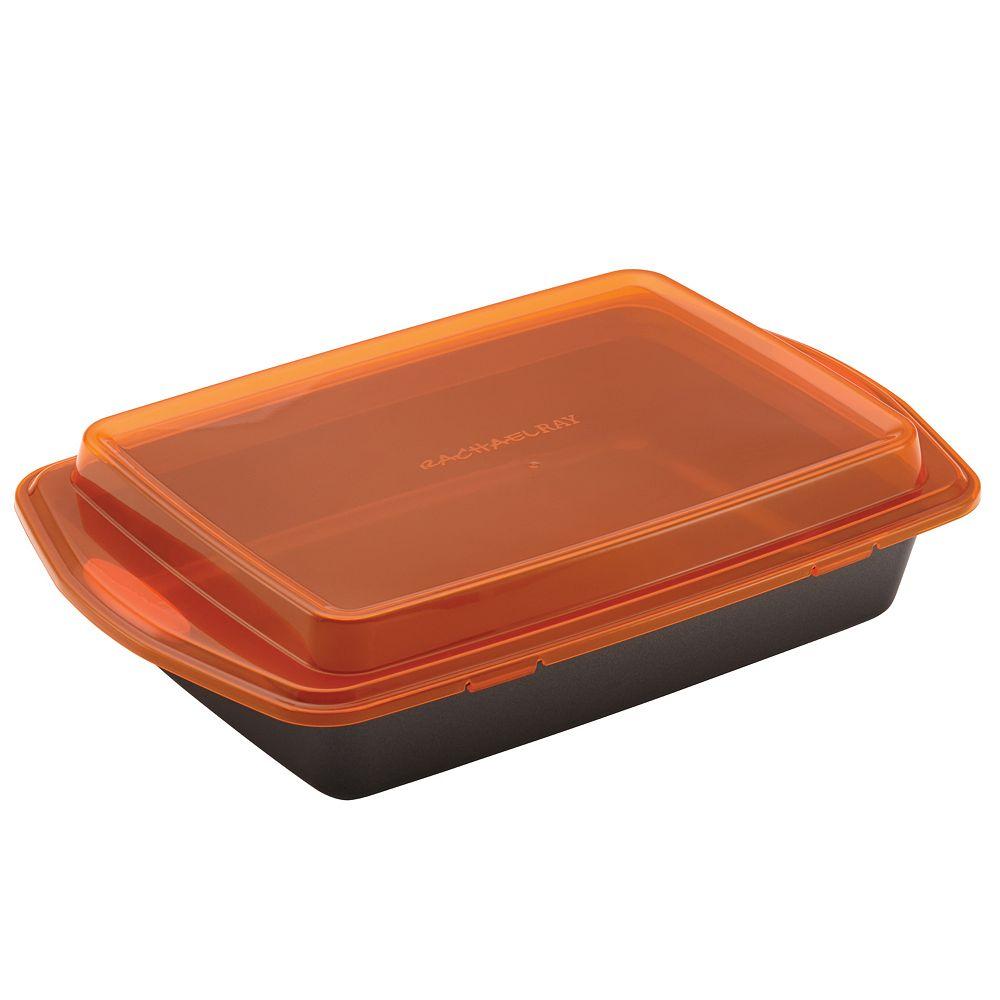 "Rachael Ray® Bakeware 9"" x 13"" Nonstick Covered Cake Pan"