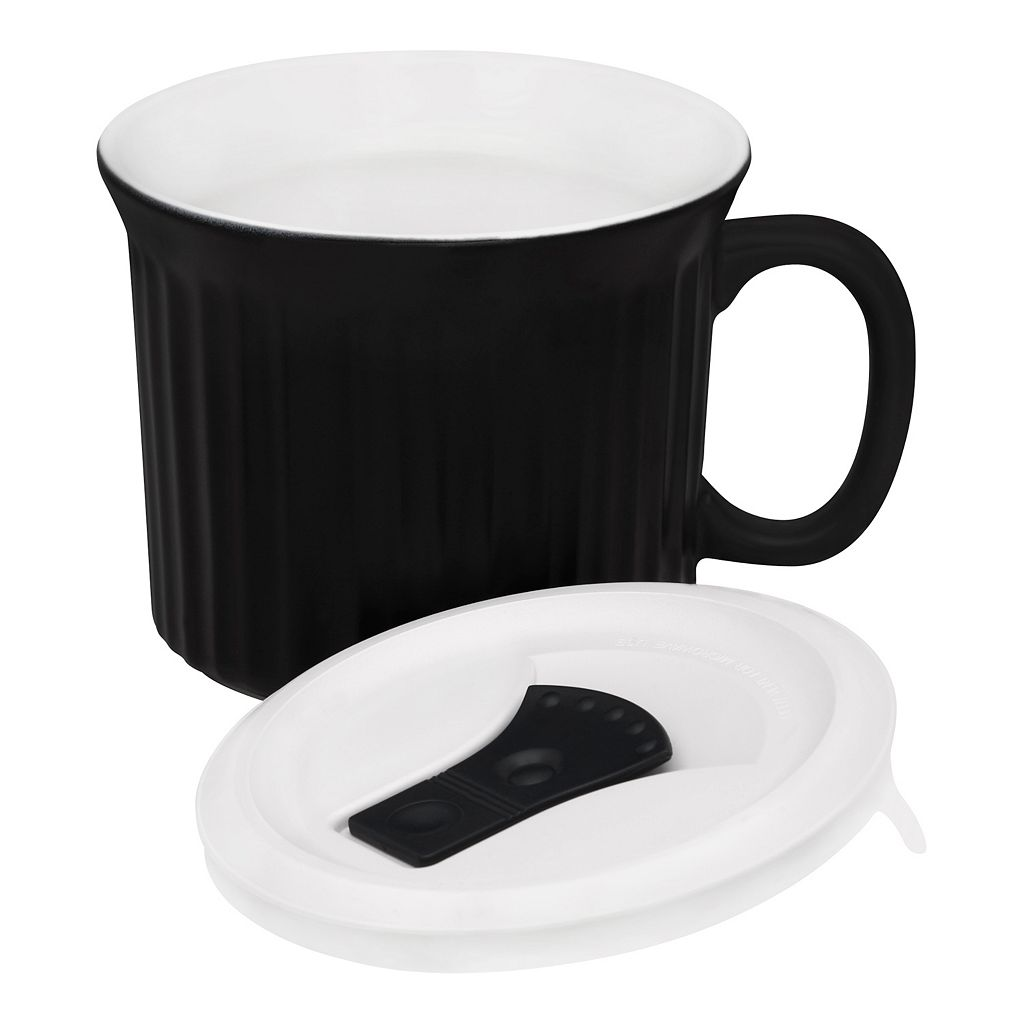 CorningWare French White 20-oz. Mug with Vented Cover