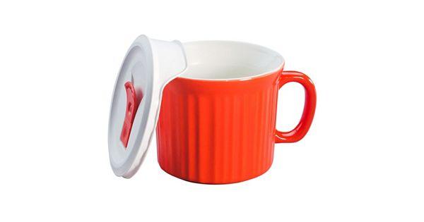 Corningware French White 20 Oz Mug With Vented Cover