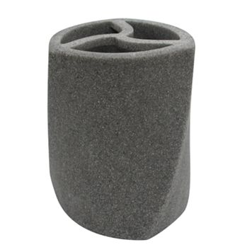 Geo Stone Toothbrush Holder