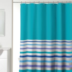 Ribbon Stripe Fabric Shower Curtain