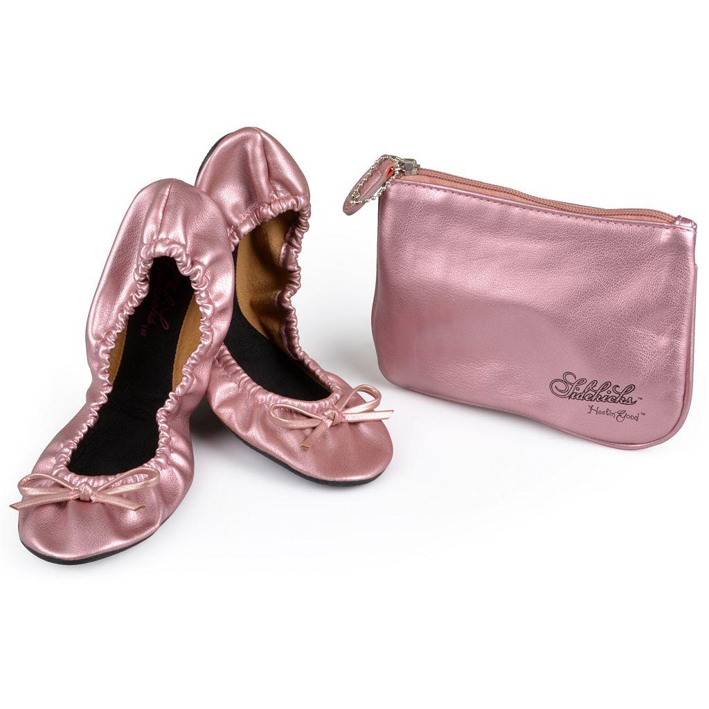 Sidekicks Side Women's Foldable Ballet Flats