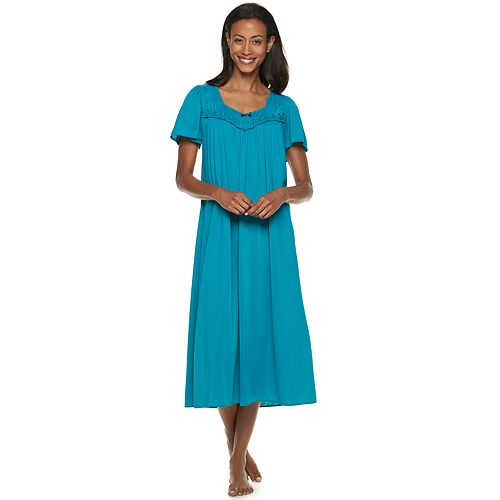 Women\'s Miss Elaine Essentials Pajamas: Long Tricot Nightgown